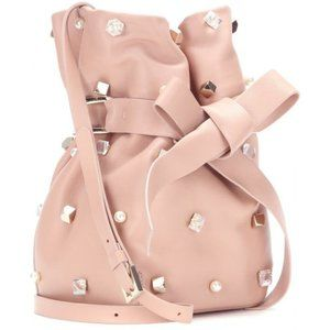 ⭐HP⭐️ Jimmy Choo Pink Eve Embellished Bucket bag